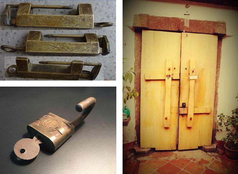 早时期的铜锁、铁锁